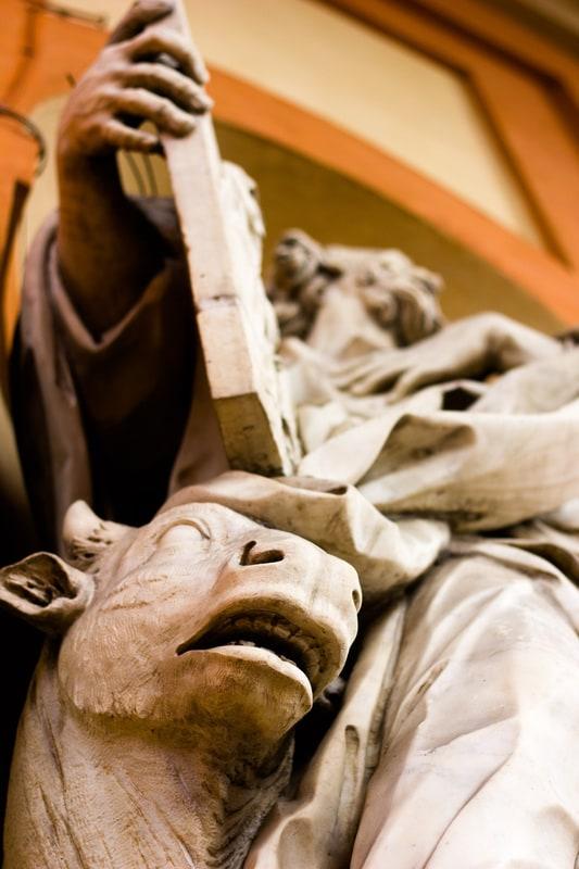 Bologna - San Luca Basilica - Statue