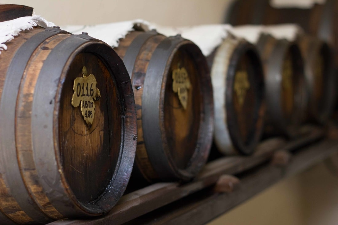 A set of barrels for the production of Balsamic vinegar of Modena