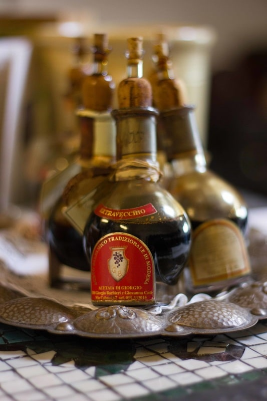 Bottles of original Balsamic Vinegar of Modena