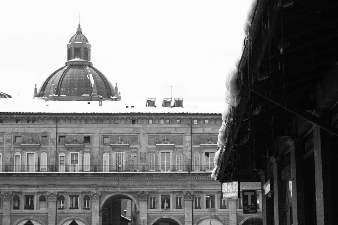 Bologna snow 2015 - Piazza Maggiore