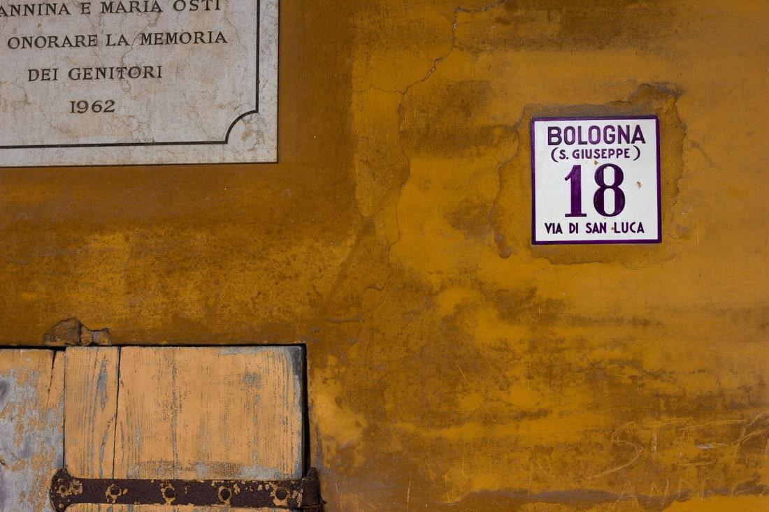 Bologna - San Luca Portico detail