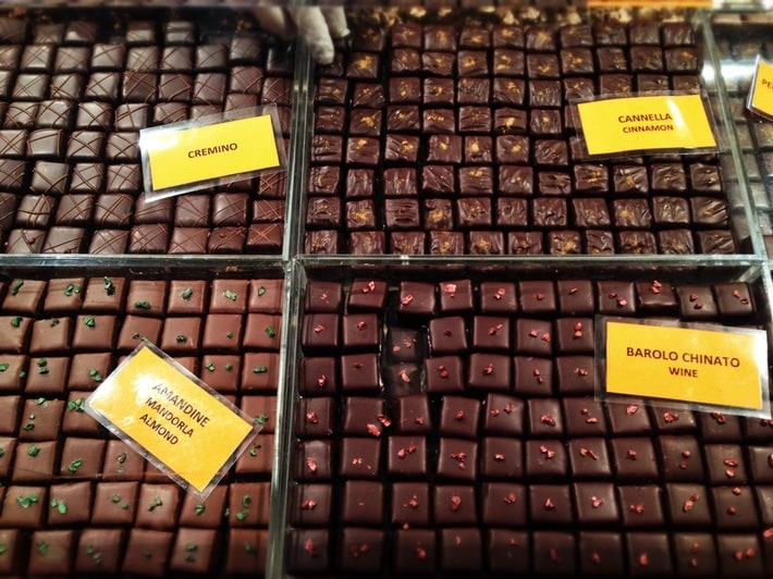 Photo of pralines from Cioccoshow 2013