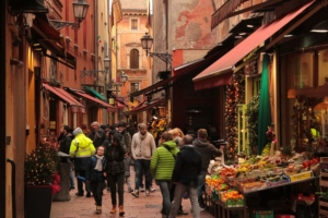Bologna food markets quadrilatero