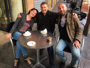 Phil Rosenthal netflix in modena Italy with Caterina and Andrea