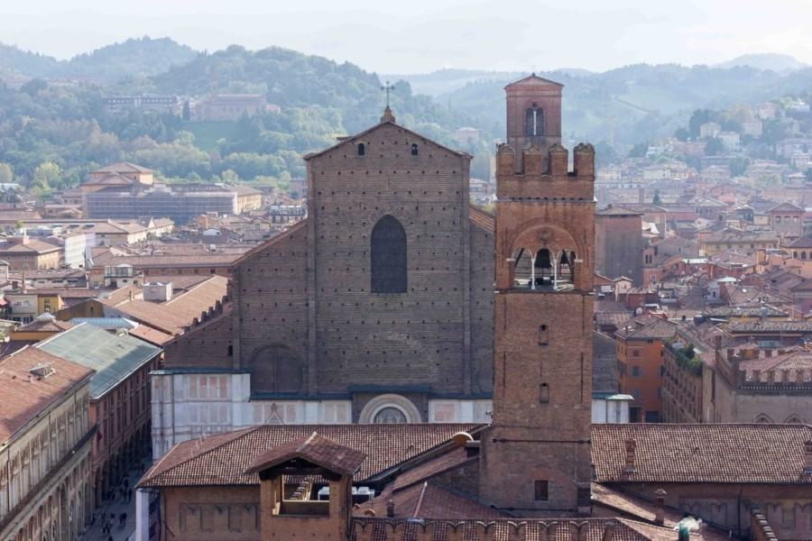 Bologna Saint Peter Cathedral - View of Saint Petronio