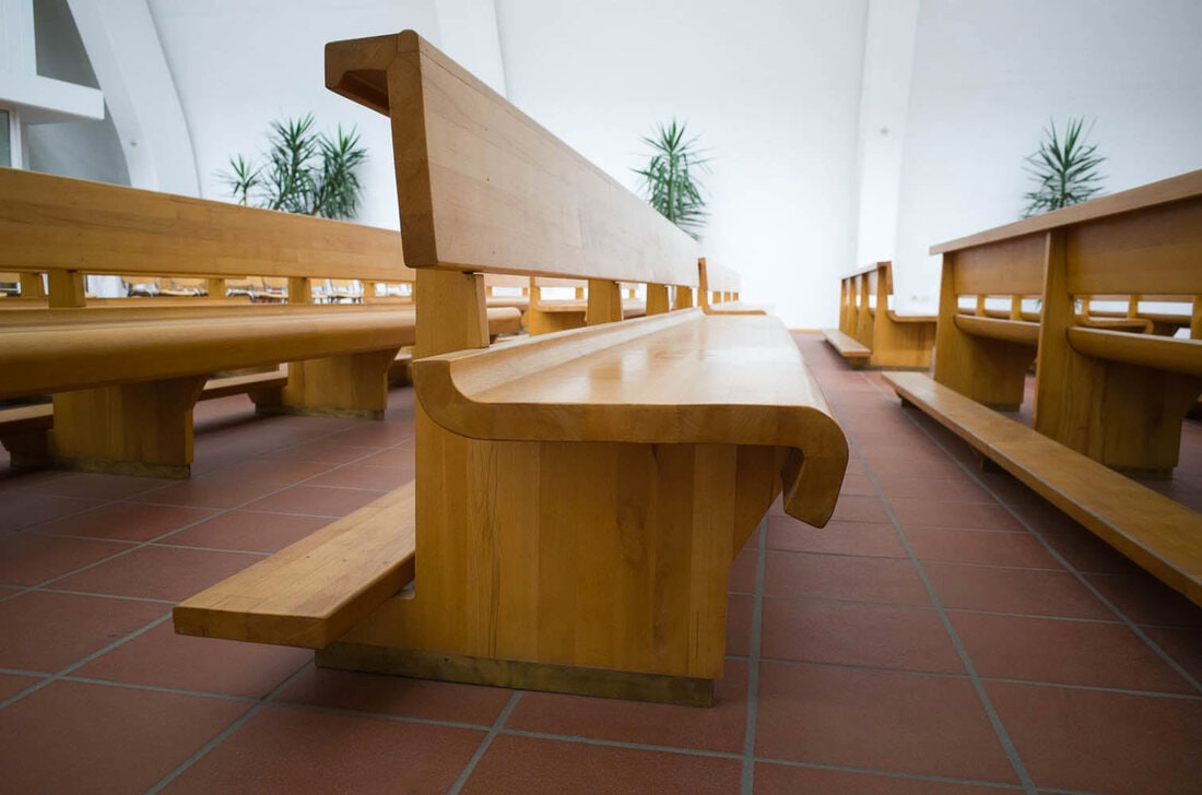 Alvar Aalto church in Riola, Bologna - Bench