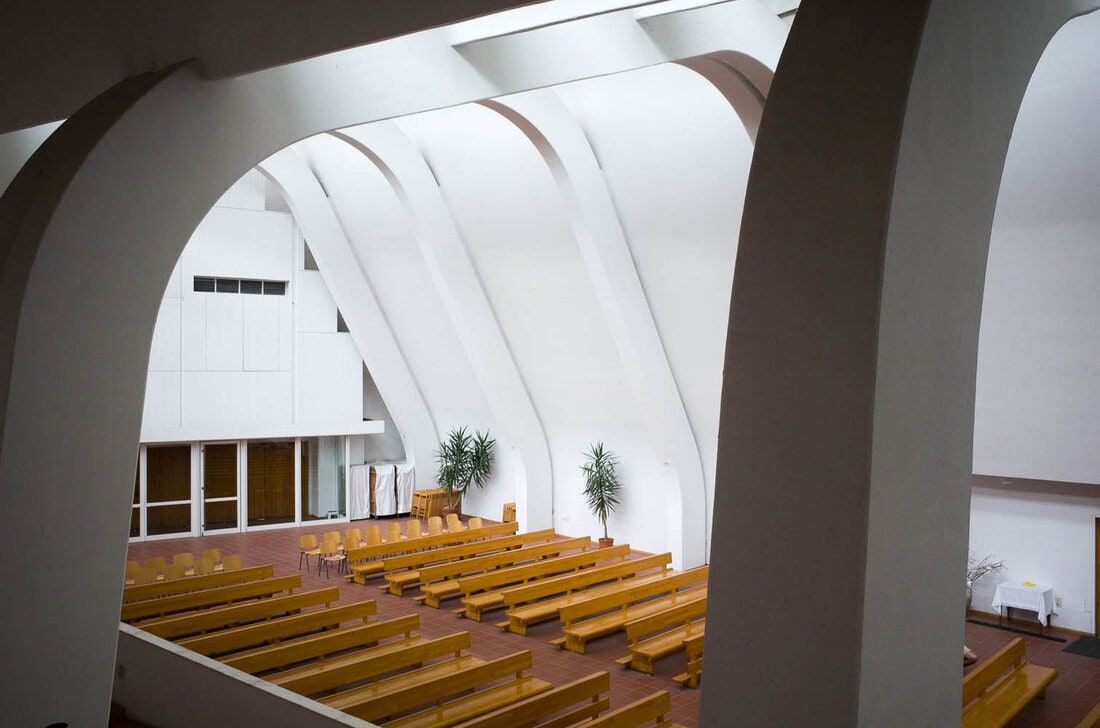 Alvar Aalto church in Riola, Bologna - Inside