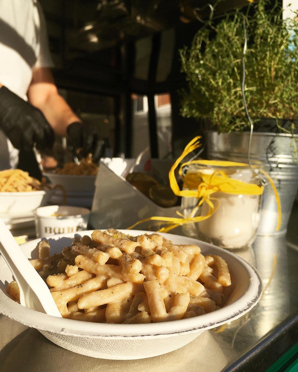 Passatelli at Aspasso Food Truck in Cesena