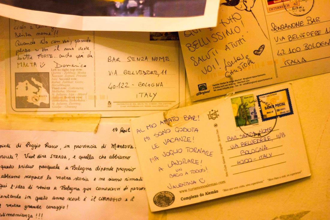 Bar Senza Nome Bologna - Postcards