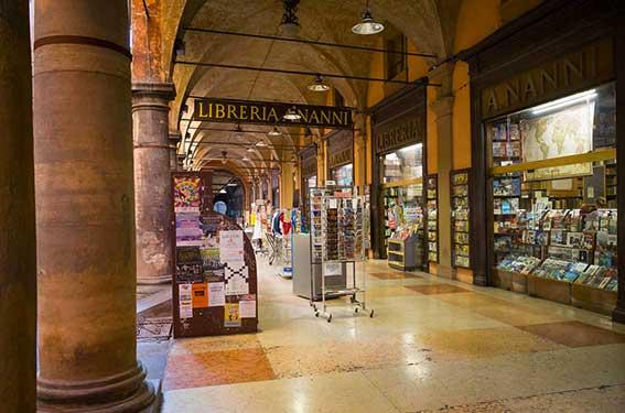 Bookshop in Bologna