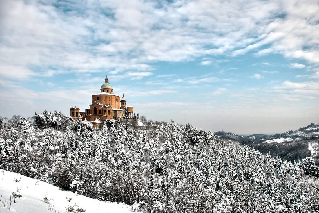 Bologna in winter - San Luca Basilica