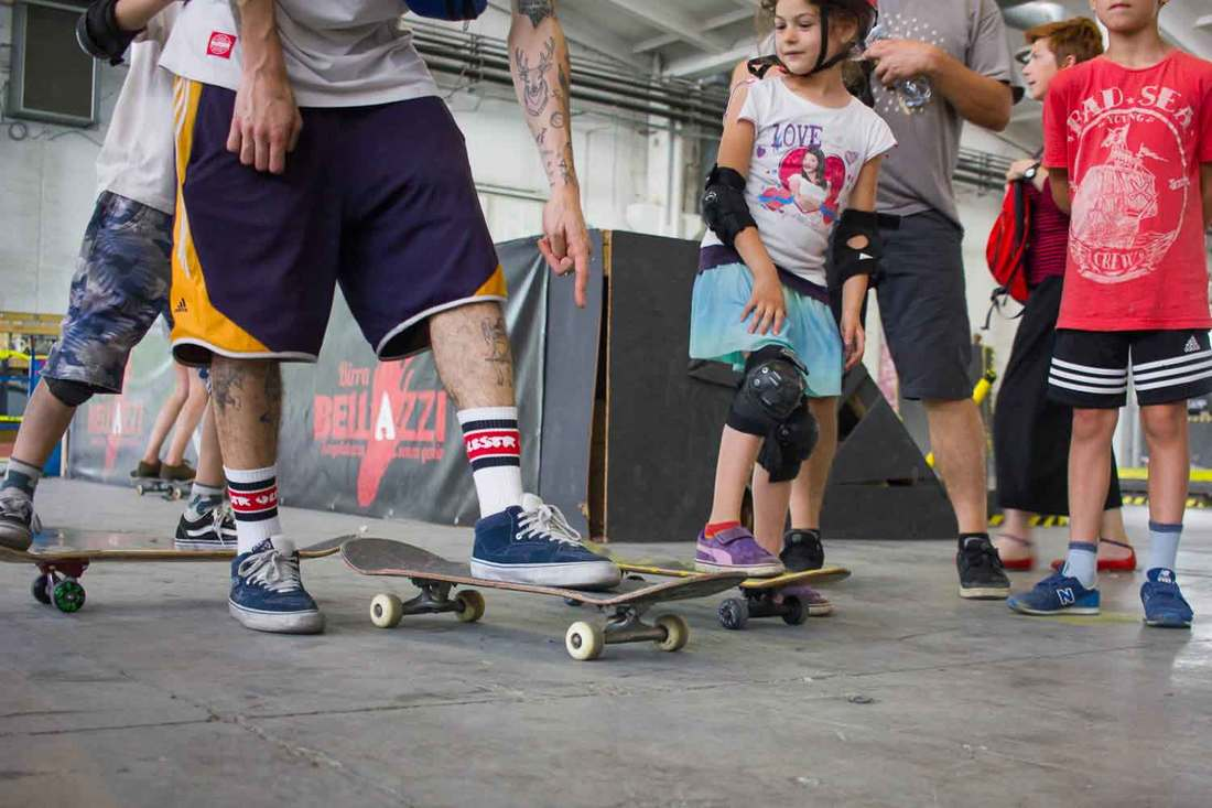 Bologna with kids - Skateboarding at OZ