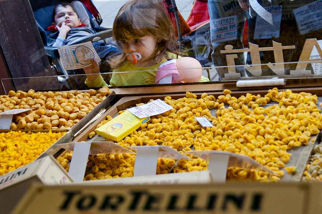 Bologna with kids - tortellini