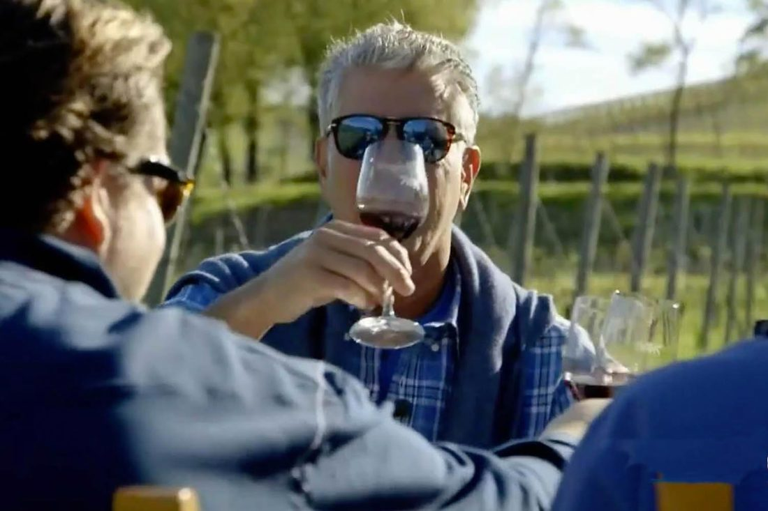 Bourdain in Bologna - Wine at Tre Monti vineyard