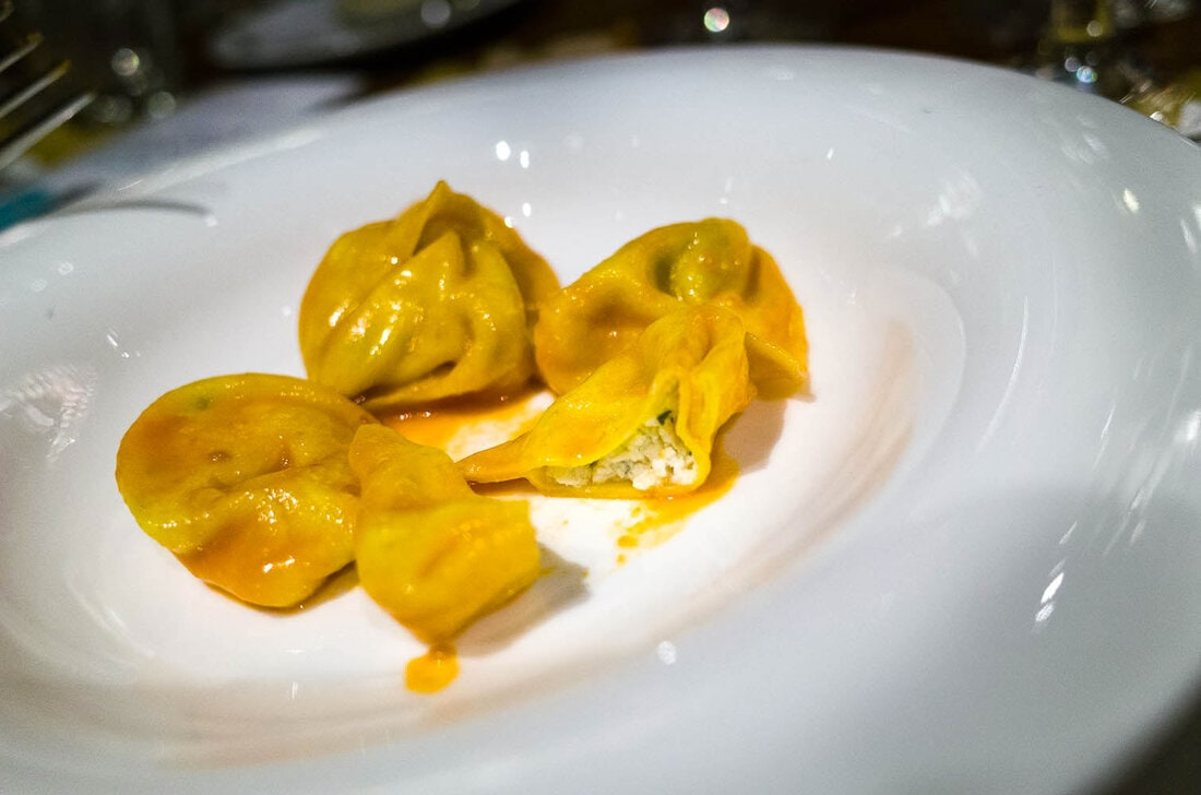 Tortelloni in Bologna in August