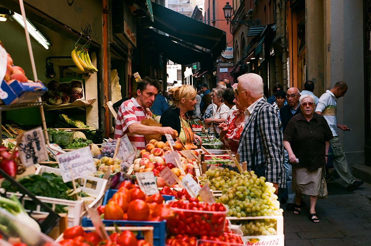 Italy food markets - Quadrilatero Bologna