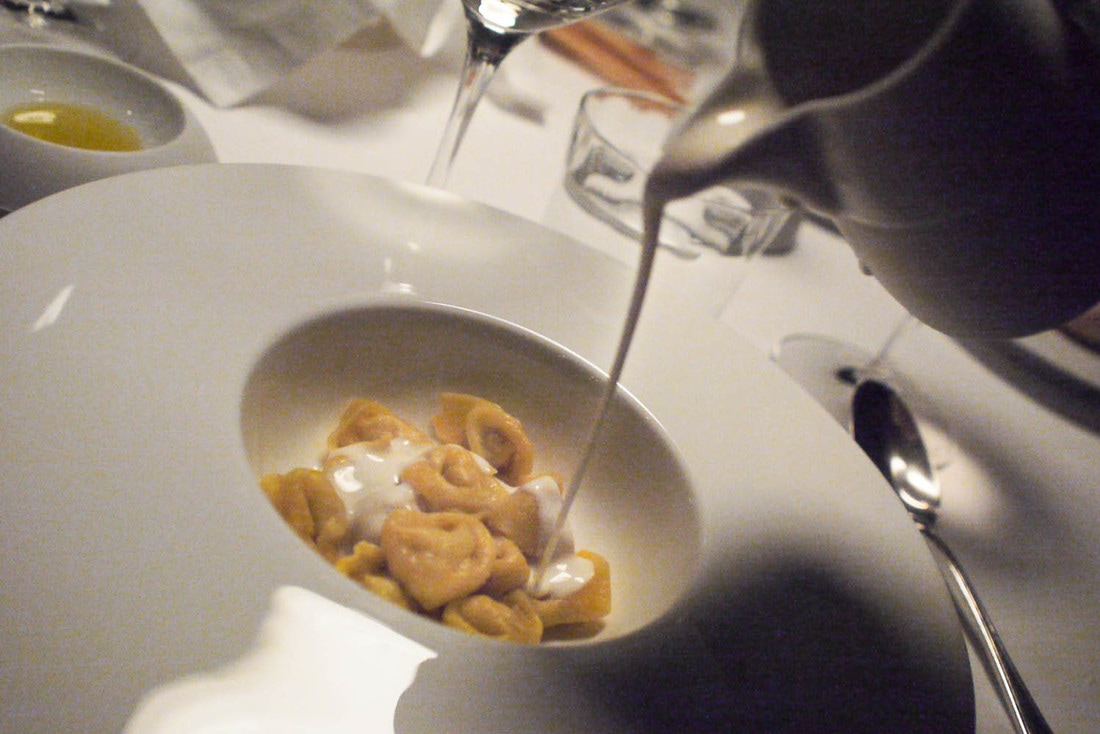 Osteria Francesca - Tortellini with cream of Parmigiano Reggiano