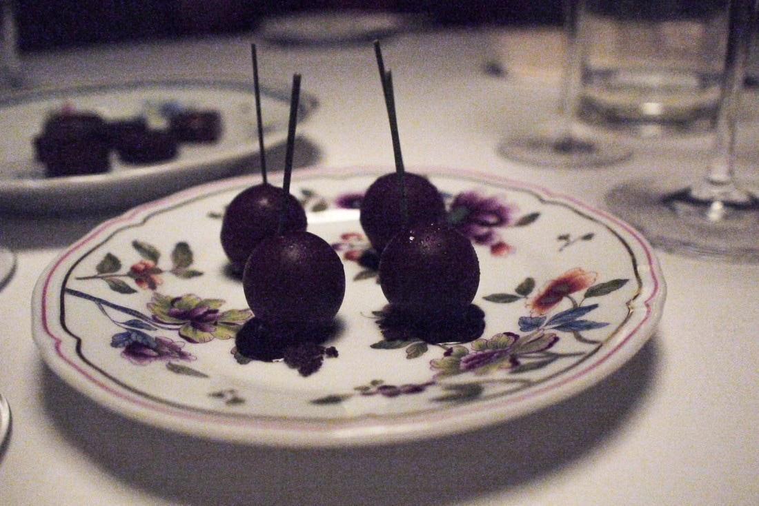 Osteria Francescana - The chocolate and walnut, cherries in wine