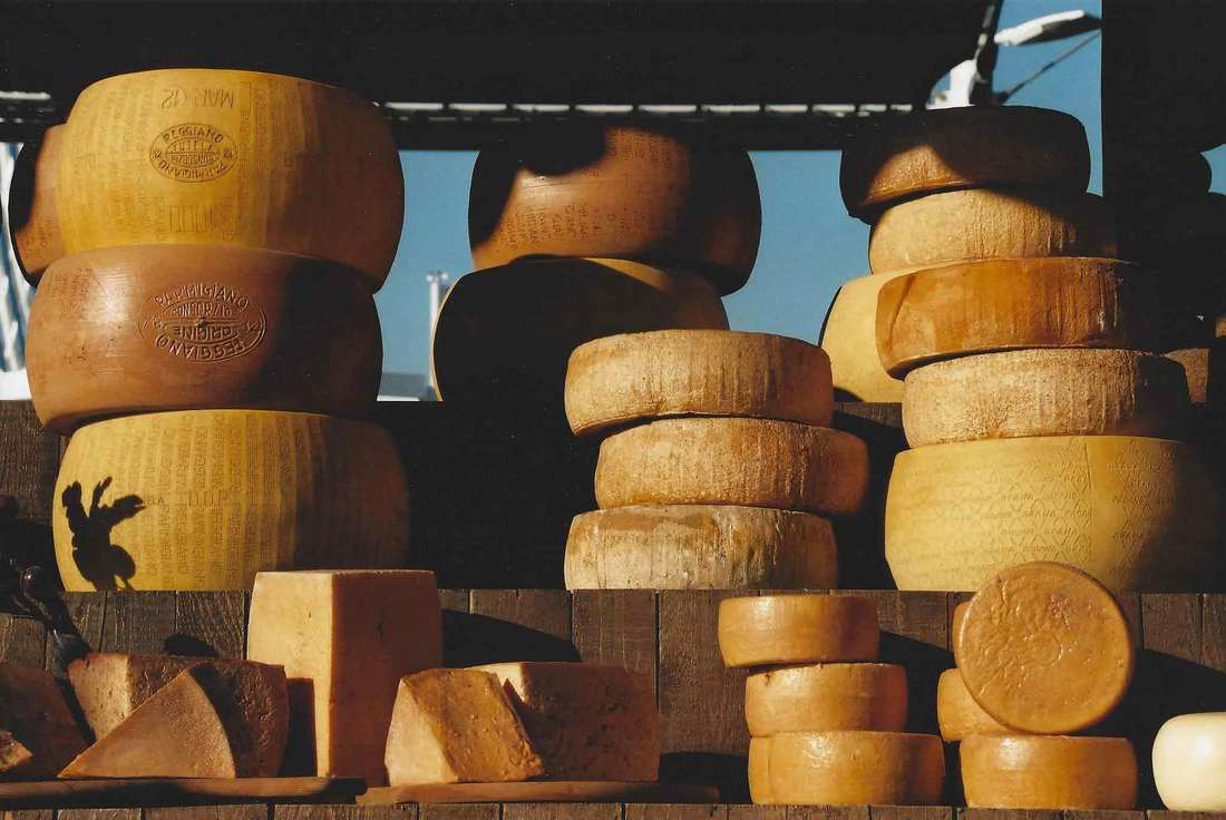 Parmigiano Reggiano cheese - Different aged cheeses