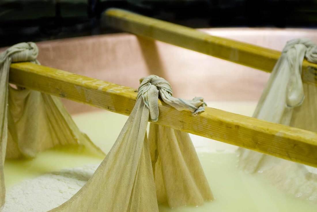 Parmigiano Reggiano cheese - resting