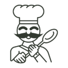 Tigelle chef icon