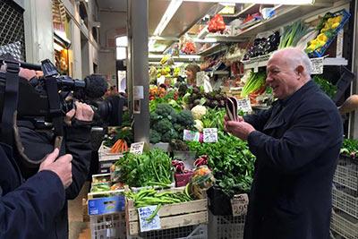 Rick Stein in Bologna market