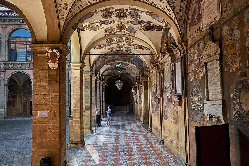 Travel solo in Bologna: Archiginnasio library