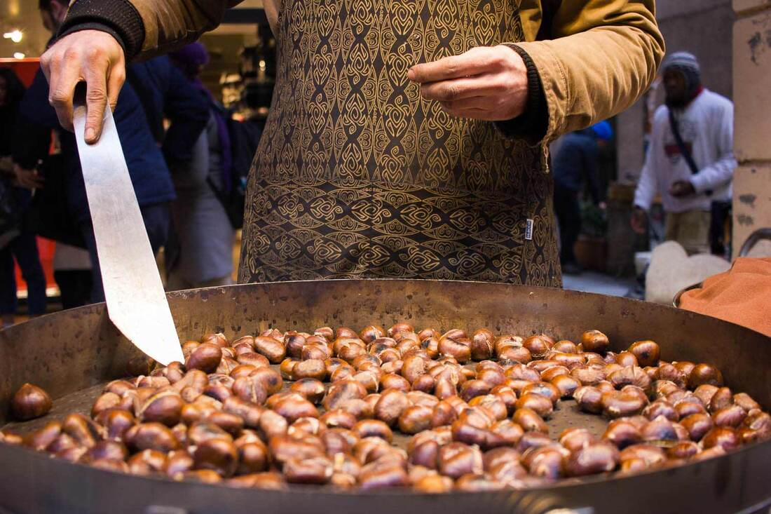 Street food in Bologna - Chestnut